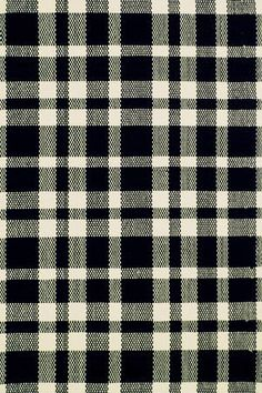 Plaid Black & Ivory - 9'x12'