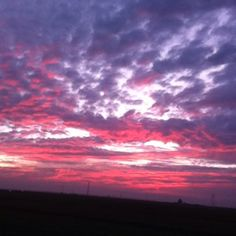 Sunset in Bakersfield, California