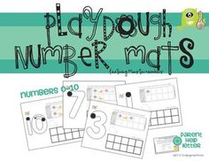 Playdough Number Mats {Free}