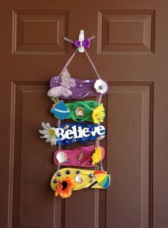 Hey, I found this really awesome Etsy listing at https://www.etsy.com/listing/188398063/flip-flop-wreath-believe