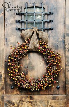 Lovely Holiday Berry Wreath...Beautiful With Holiday Ornaments