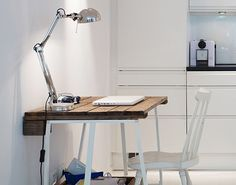 Check out this chic pallet desk. Plenty of other pallet ideas in the link