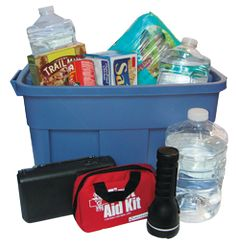 For Home: Your disaster supplies kit should contain essential food, water and supplies for at least three days.    Keep this kit in a designated place and have it ready in case you have to leave your home quickly. Make sure all family members know where the kit is kept.    Additionally, you may want to consider having supplies for sheltering for up to two weeks.
