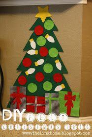 The Link Home: DIY felt Christmas tree