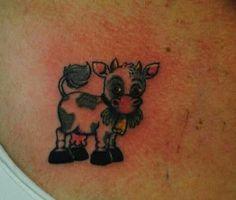 I want this sooo bad!! #cow #tattoo ♥♡