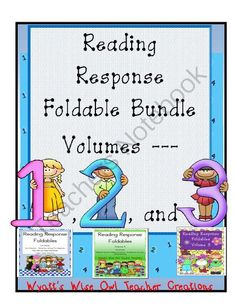 Reading Response Foldable Bundle Volumes 1-3 from Mrs. Wyatt's Wise Owl Teacher Creations on TeachersNotebook.com -  (72 pages)  - Reading Response Foldable Bundle Volumes 1-3