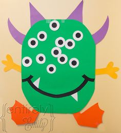 Entirely Emily: Pin-the-eyeball-on-the-Monster Game (for a Preschool Halloween Party)