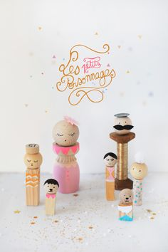 diy little wooden dolls...