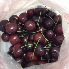 Cherries are big this season.