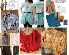 Ideas for upcycling with vintage textiles vintag textil, vintage textiles, jean jacket