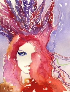 Kate | Cate Parr #watercolor  #fashion #illustration