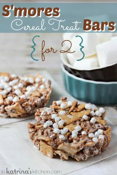 Smores Cereal Treats for Two!