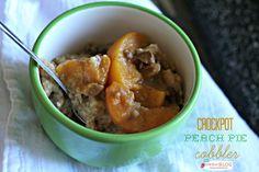 Crockpot Peach Pie Cobbler | TodaysCreativeBlog.net