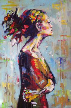 "Saatchi Online Artist: Marta Zawadzka; Acrylic 2013 Painting ""Lena"" #painting #art | AM"