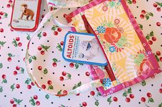 Super mini-quilt (aka my super colossal gargantuan nametag) by Happy Zombie, via Flickr