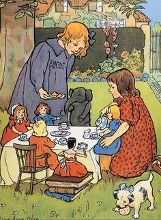 tea parti, tea time, animals, elsi anna, british, art prints, children, parti stuf, anna wood
