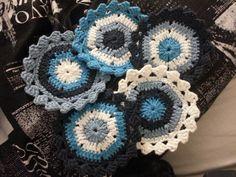 free crochet patter - Hexagon Coasters