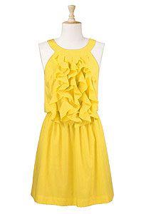 #ruffles  yellow dress #2dayslook #yellow style #yellowfashiondress  www.2dayslook.com