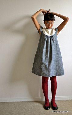 Bib dress by verypurpleperson, burda pattern