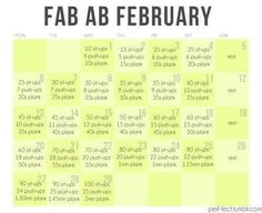 The Crafty Ginger: Fab Ab February - Who's doing this with me?