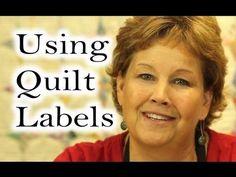 ▶ Personalize Your Quilt Using Quilt / Applique Labels - YouTube