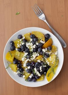 Blueberry, Beet and Feta Salad | athoughtforfood.net #salad #blueberry #beet #feta