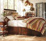 Stratton Bed with Baskets | Pottery Barn