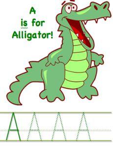 alligator printables