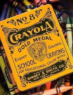 Vintage crayon tin