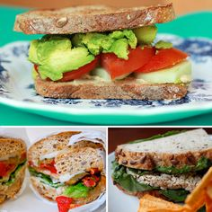 Healthy Vegetarian Sandwich Ideas.