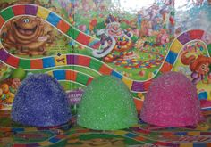 Set of 3 Jumbo Fake Gumdrops, Great Candy Land Birthday Party Decorations, Photo Props, Christmas Display. $18.00, via Etsy.