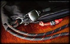 Schmuckatelli Co. Kiko Tiki black oxide bead on VENOM mochibag paracord zipper pull