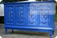 Rustoleum Furniture Transformations - Midnight - No glaze.