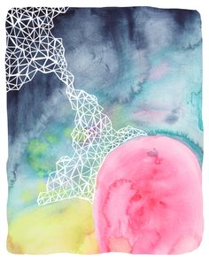 Days in the Deep watercolor print inspired by the depths of the ocean. #AmandaBrown #BrownBearStudio