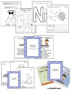LETTER N ACTIVITIES - Preschool and Kindergarten