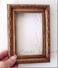 How to paint an antique gold faux finish on thrift store frames using craft paints!