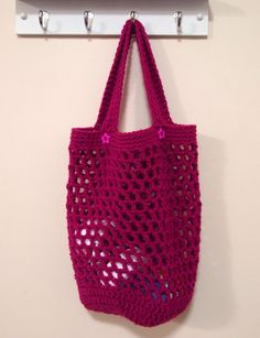 Crochet Market Bag - would make a good pattern for a plarn bag