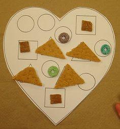 valentine day ideas, heart, foods, karen preschool, learning shapes, preschool idea, snack, kid, preschools