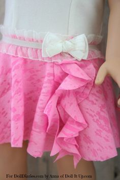 Camp Doll Diaries-Make a No-Sew Dance Skirt