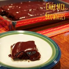Cake Mix Brownies chocolate chips, chocolates, mix browni, cakes, cake mixes, white chocolate, red velvet, peanut butter, dessert