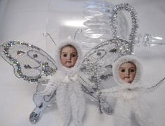 lillieandnora  http://www.etsy.com/shop/lillieandnora butterfli, antique dolls, paper, craft idea, chenill ornament, angels, craft ornament, antiques, vintage style