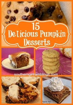 15 Delicious #Pumpkin #Desserts Recipes