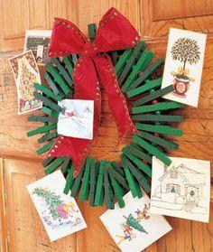Christmas card wreath!!