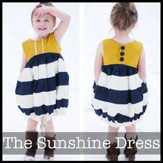 The Sunshine Dress from SchwinDesigns $9.00 PDF only Dresses Pattern, Kids Sewing, Sunshine Dresses, Men Shirts, Shwindesign, Baby Girls, Kids Clothing, Baby Pattern, Sewing Patterns