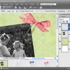 Photoshop Elements Digital Scrapbooking Tutorial {How To Digital Scrapbook}