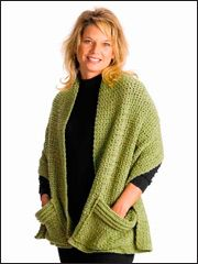 Quick & Easy Cozy Crocheted Wrap Pattern from Annie's -- The easy stitch pattern works up quickly in worsted yarn. One size fits most!