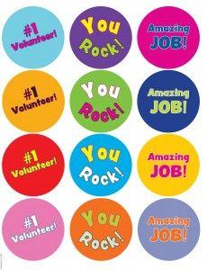 Volunteer Appreciation Printable Pins from Guildcraft Arts & Crafts!