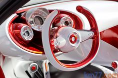 Interior - Volante y salpicadero - Smart forstars concept Coupé