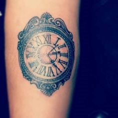 gorgeous clock tattoo. Time set at 11:11  ~Dont waste time dreaming, live your dream
