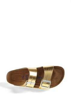 gold birkenstocks arizona